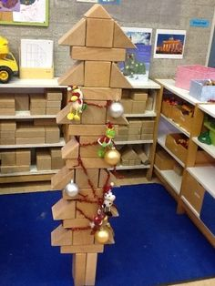 kerstboom bouwhoek kleuters