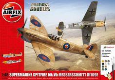 Spitfire Mk.Vb & Messerschmitt Bf-109E Dogfight Double 1/48 | kiva setti, 2 konetta, alta 40e, Kuivalainen Pienoismalleja