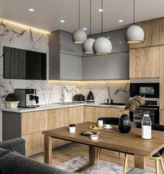 modern kitchen room are readily available on our site. Read more and you wont be sorry you did. Kitchen Room Design, Kitchen Cabinet Design, Kitchen Cupboards, Modern Kitchen Design, Home Decor Kitchen, Kitchen Living, Interior Design Kitchen, Home Kitchens, Kitchen Paint