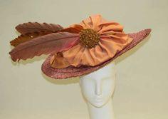 "omgthatdress: "" Hat ca. 1910-1911 via The Costume Institute of the Metropolitan Museum of Art "" Oooooooh! Man do I want this! I love the angle of the brim!"