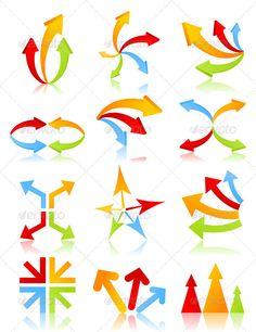 Buy Arrow by aleksandr-mansurov-ru on GraphicRiver. Icon of an arrow of different kinds. A vector illustration Vector Graphics, Vector Free, Arrow Art, Information Graphics, Illustrator Tutorials, Curve Design, Illustration, Graffiti, Clip Art