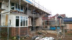 Extension going up to back of house