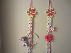 Flower Headband and Hair Bow Holder by TheCraftyCooper on Etsy, $20.00