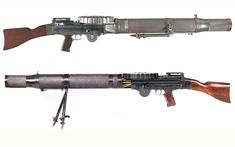 Lewis LMG - Great Britain - produced 1913-1942 Caliber .303 - 47 or 97 round pan magazine - 500-600 rpm 148,500 produced
