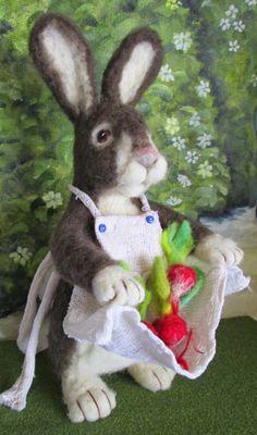Angelsdoor: The Harvest.... Mrs. Miniver...... Needle Felted Rabbit