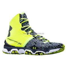 Under-Armour-Speedform-Xc-Mid-High-Vis-Yellow-White-Charcoal Trail Running 9.5 Oz. 22/14 Mm (Heel/Toe) 1246698-731