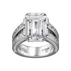 cartier-engagement-rings-rings I don't usually like Emerald cut rings, but I love this design with the baguettes!