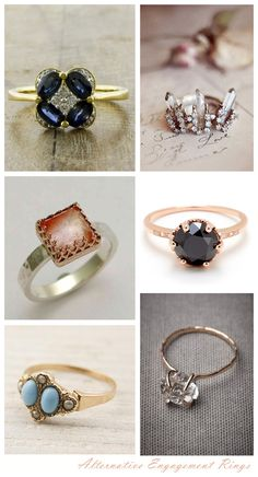 Stunning Alternative Engagement Rings - Want That Wedding