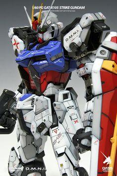 PG 1/60 Strike Gundam - Customized Build     Modeled by Oasis
