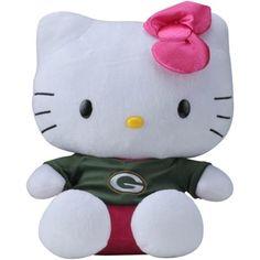 "Green Bay Packers Hello Kitty 14"" Shirtable Plush"