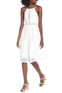 Alternate Image 1 Selected - Soprano Lace Midi Dress
