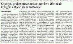 Matéria Oficina de colagem Comunidade Bonete, Ilhabela/SP