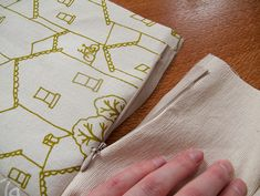 lara cameron: How to sew a cushion cover with an invisible zip - A Tutorial
