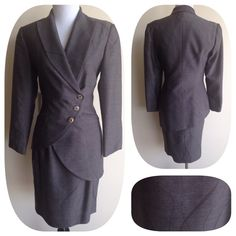 Best Dressed HP! Zion NY Designer Suit Beautifully tailored taupe zion NY suit. Fabric has a swirl pattern and skirt is pencil cut. Asymmetrical hem on the jacket. Seaming throughout shapes the jacket and contours waist.  Measurements available. Bundle and Save $$ Italian Jackets & Coats