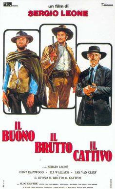 Il buono il brutto e il cattivo, Sergio Leone: c'è un motivo se i vari Tarantino, Scorsese e tutti i grandi registi di oggi lo considerano un maestro. Lui e Fellini hanno saputo inventare il cinema come pochi; condividevanl il gusto per una sceneggiatura profonda e il talento per riprese allucinate.