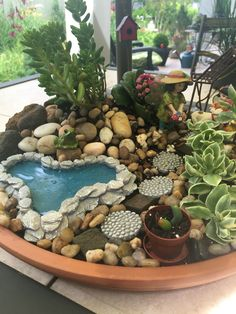 62 DIY Miniature Fairy Garden Ideas to Bring Magic Into Your Home - Page 61 of Indoor Fairy Gardens, Mini Fairy Garden, Fairy Garden Houses, Miniature Fairy Gardens, Garden Fun, Mini Cactus Garden, Succulent Gardening, Succulent Terrarium, Planting Succulents