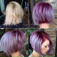 Hou jij ook zo van knallende kleuren in jouw korte haar? Bekijk deze 13 geweldig gekleurde korte modellen eens. - Kapsels voor haar