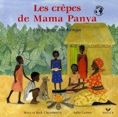 Les crêpes de Mama Panya : Un voyage au Kenya : Mama Panya et son fils Adika se rendent au marché. Elle a juste deux petites pièces à dépenser mais sur le chemin, Adika ne peut résister au plaisir d'inviter tous leurs amis pour partager les bonnes crêpes prévues le soir. En fin d'ouvrage, une carte du Kenya et un documentaire pour mieux découvrir ce beau pays, ses habitants, et la recette de Mama Panya !