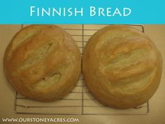 This simple and easy whole wheat Finnish Bread recipe goes perfect with any meal and is very quick to make!