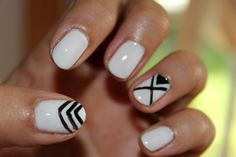 black and white nail art. #blackandwhitenails #nailart #nailpolish #nails #blackandwhite