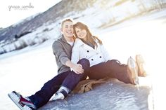 Ice Skating - Winter Engagement