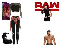 """""""Ringside for Roman Reigns VS. Jinder Mahal."""" by jamiehemmings19 ❤ liked on Polyvore featuring WWE, Topshop, R13 and Steve Madden"""