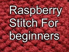 ▶ Raspberry Stitch for Crochet - Slow Motion Crochet - YouTube