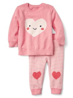 Heart sweater and pants set | Gap