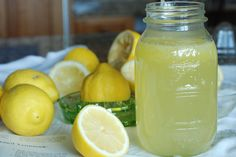Old Fashioned Lemonade from Anne of Green Gables Cookbook – 1 ½ cups sugar, 1 ½ cups water, Zest from one lemon, 1 ½ cups fresh lemon juice, Ice cubes, Cold water or sparkling water, Lemons slices, & Fresh mint leaves. I don't even like lemonade, but this sounds really refreshing!