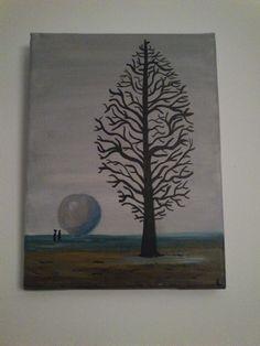 Gebaseerd op een schilderij van Rene Margriet. anderhalf jaar geleden gemaakt denk ik.