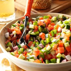 Chopped Garden Salad Recipe -This recipe is always requested by my children for their birthday meal or any other get-together. The flavor combination is so yummy.—Anna Sutherland, Camp, Arkansas