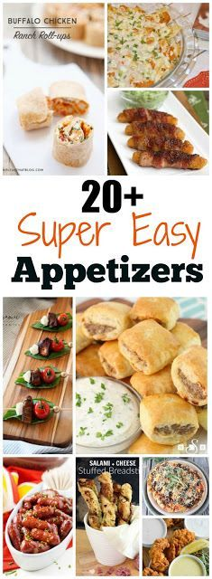 20+ Appetizer Recipe Ideas for your party!  From snacks to dips so many delicious recipes to choose from.