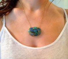 SUMMER SALE Amazing fire Opal Pendant by YaronaJewelryDesign, $386.10