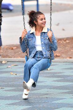 November 2: Selena at a park in Los Angeles, CA