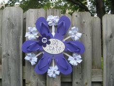 College Team Spirit Flip Flop Wreath KU by BabesnBowsBoutique, $35.00