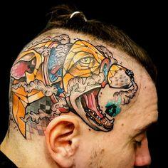 Bold scalp piece by Jubsss