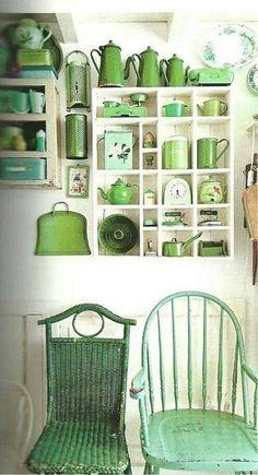 shabby green.. love!
