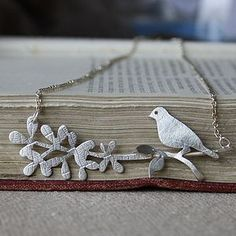Handmade Silver Bird And Branch Necklace by Caroline Cowen Jewellery, the perfect gift for Explore more unique gifts in our curated marketplace. Branch Necklace, Bird Necklace, Personalized Necklace, Personalized Gifts, Easy Gifts, Unique Gifts, Green Box, Bird On Branch, Contemporary Jewellery