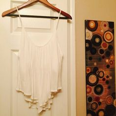 Cute white top Never worn cute white top Tops Blouses