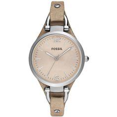 "Fossil bőrszíjas női óra, ""Georgia"" kollekció, ES2830"