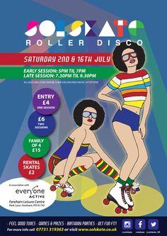 Roller Skating at Fareham Leisure Centre July 2016