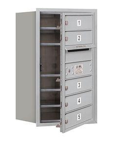 4C Horizontal Mailbox 7 Door High Unit Single Column 5 Doors Front Loading Private Access