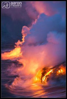 Lava & ocean