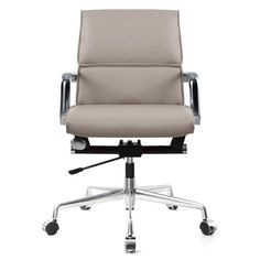 Shop for Office Chair In Grey Vegan Leather online. Conference Chairs, Chair Pads, Grey Leather, Contemporary Furniture, Vegan Leather, Office Chairs, Design, Home Decor, Style