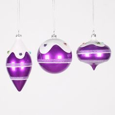 3 Piece Candy Jewel Ornament Set