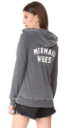 SPIRITUAL GANGSTER Mermaid Vibes Dharma Zip Hoodie. #spiritualgangster #cloth #dress #top #shirt #sweater #skirt #beachwear #activewear