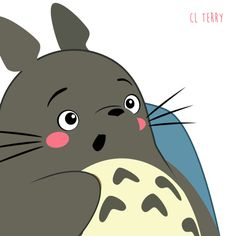 Totoro had a nice break catching up on some important eating and TV watching but now he's back! PS we missed you!