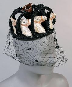 Woman's hat (side view) | United States, circa 1966-1968 | Designed by Benjamin Green-Field (American, 1897-1989).
