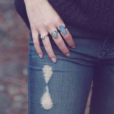 Silver stacks // rings by KV Bijou [www.kvbijou.com]