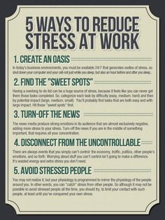 5 ways to reduce stress at work